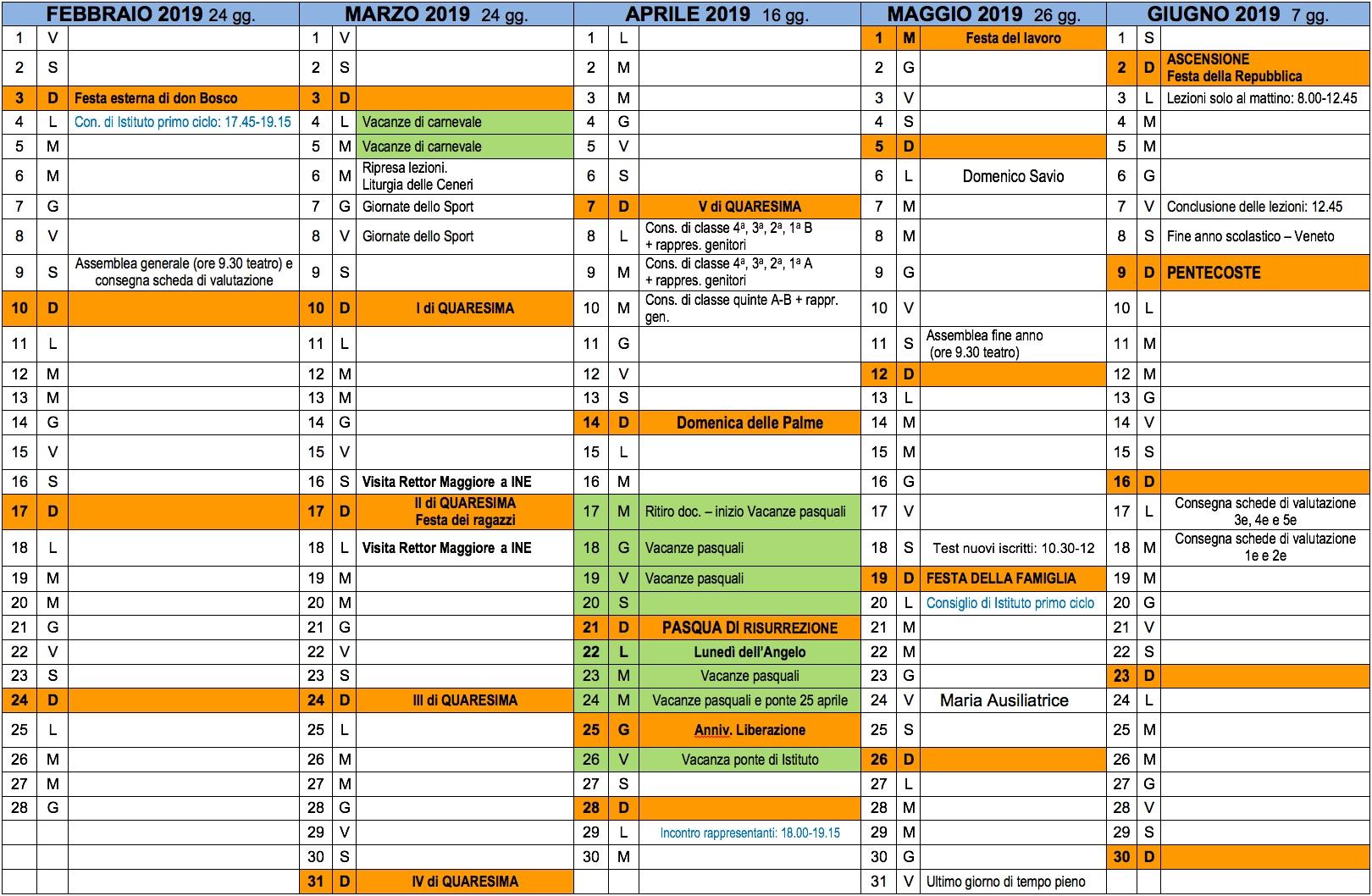 Calendario Scuola Veneto 2020.Calendario Scuola Calendario 2020