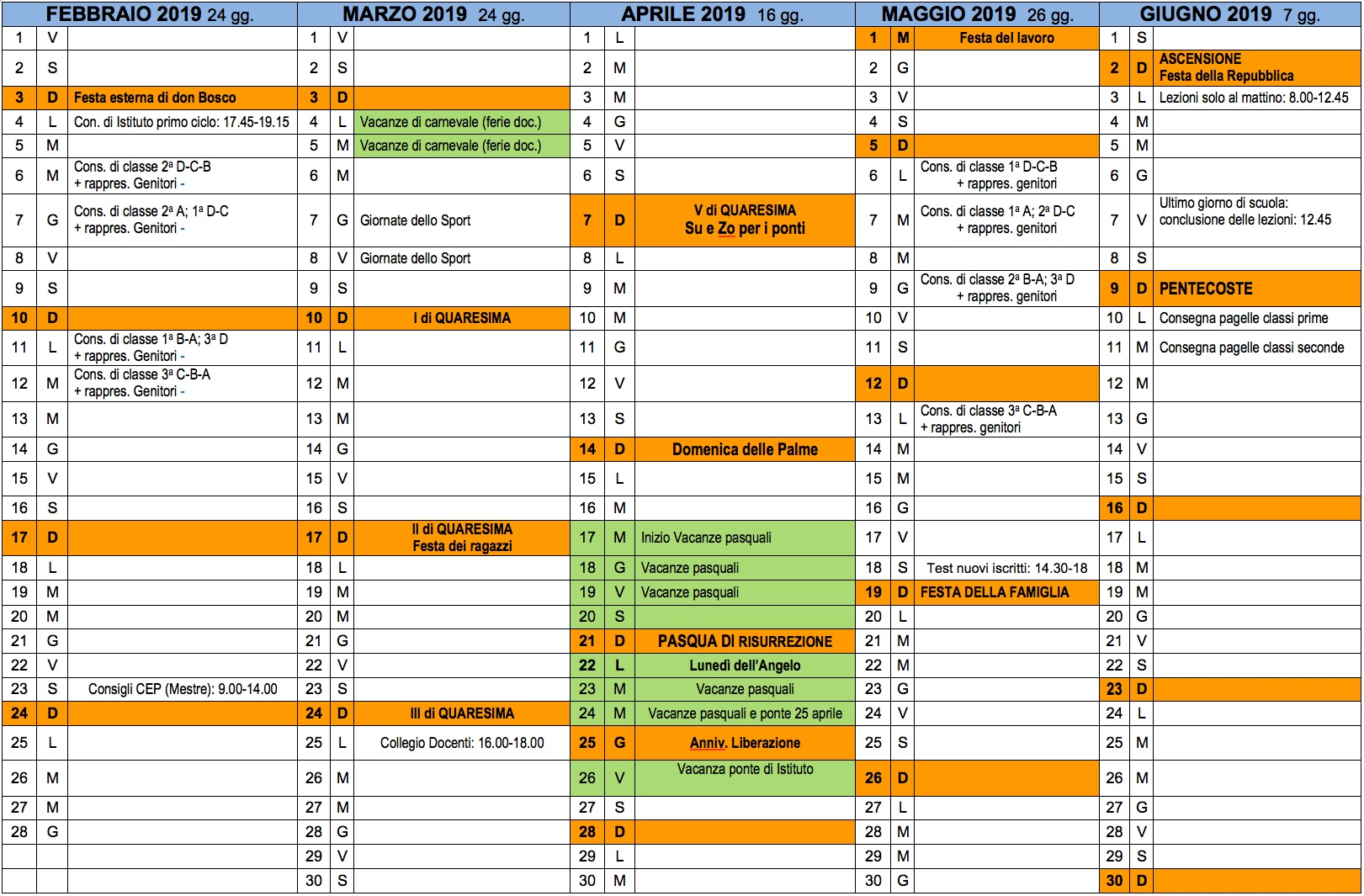 Calendario Vacanze Scolastiche 2020 Veneto.Calendario Scuola Veneto Calendario 2020