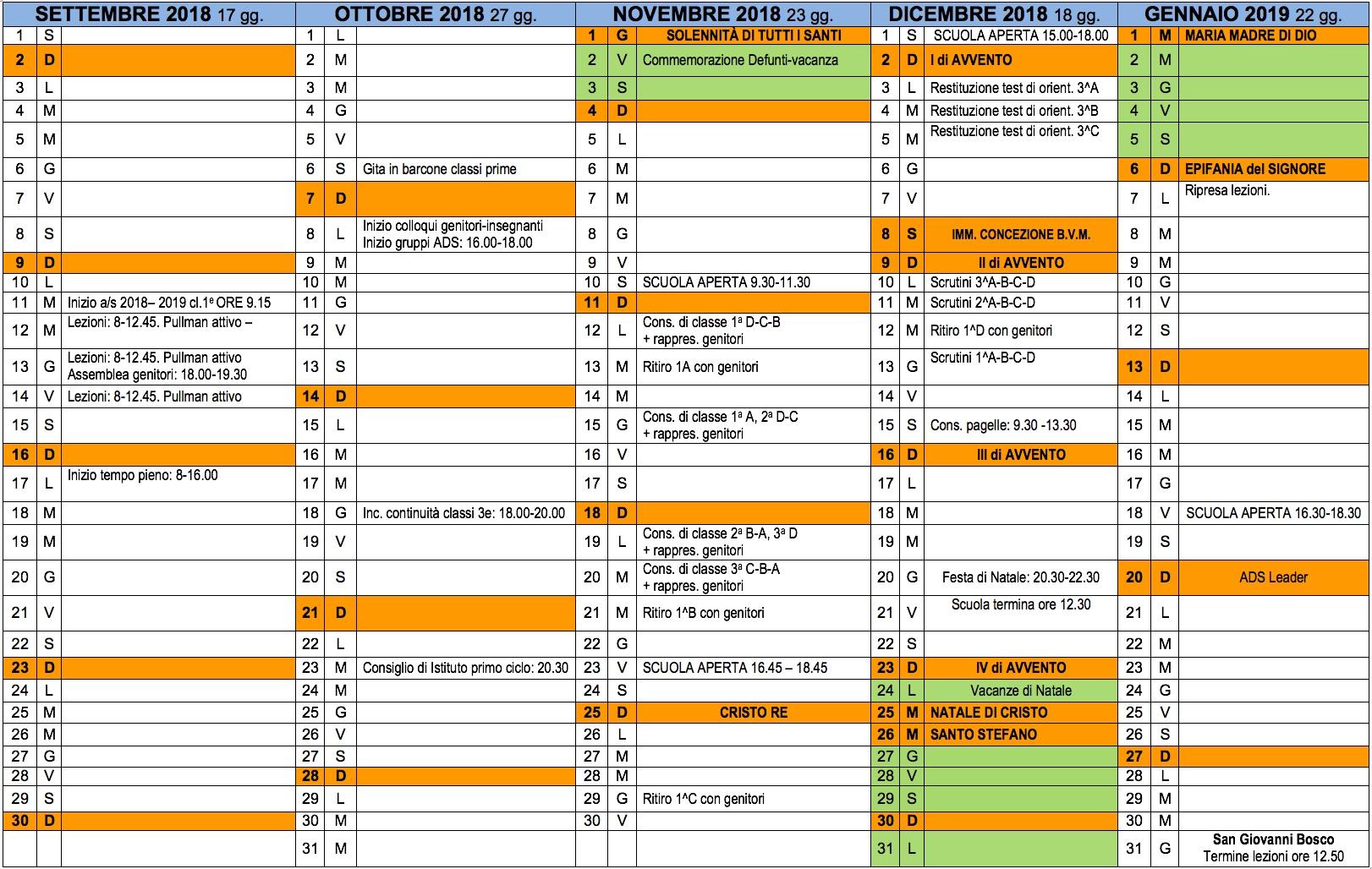 Bagutti Calendario 2020.Calendario Scolastico 2020 18 Veneto